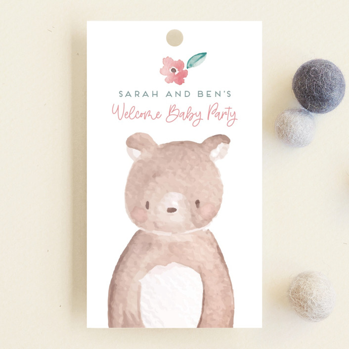 """""""garden baby"""" - Whimsical & Funny Baby Shower Favor Tags in Sage by peetie design."""