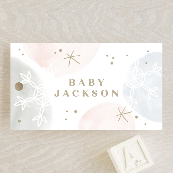 """""""Baby it's cold outside"""" - Baby Shower Favor Tags in Solstice by Creo Study."""