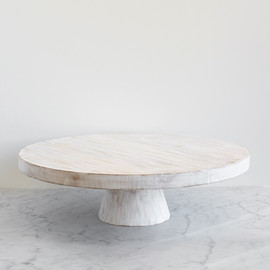 This is a white dessert table accessory by Minted called Large Whitewashed Wood.