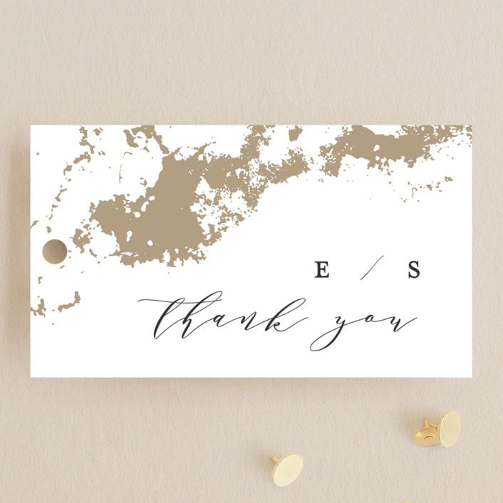 """Aerial"" - Wedding Favor Tags in Gold by Grace Kreinbrink."