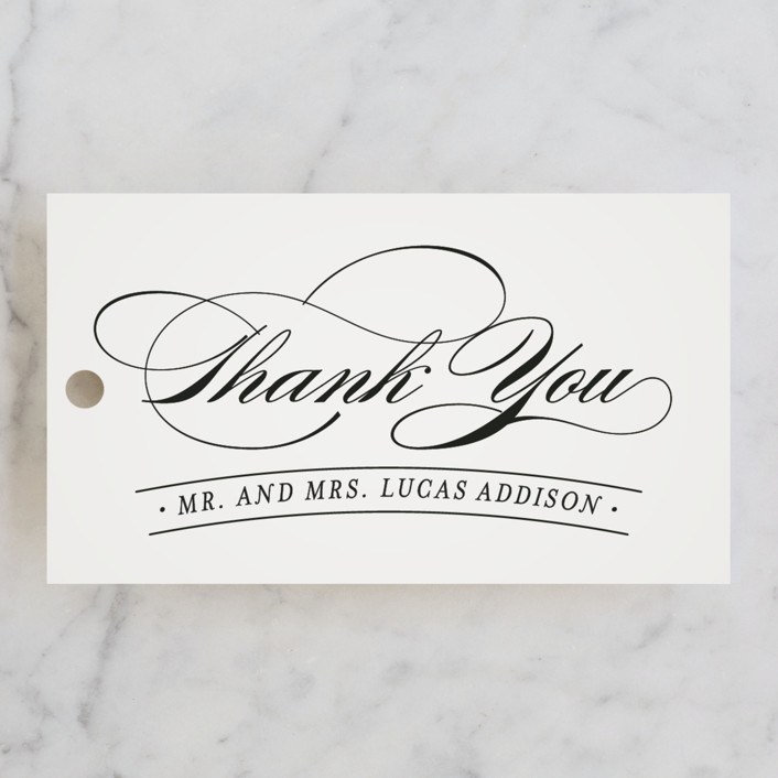 """Big City Sydney"" - Wedding Favor Tags in Light Taupe by Hooray Creative."