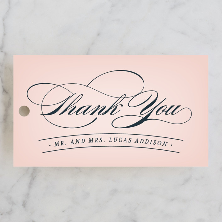 """Big City - San Francisco"" - Modern Wedding Favor Tags in Blush by Hooray Creative."