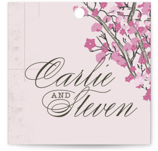 Cherry Blossom Wedding Favor Tags