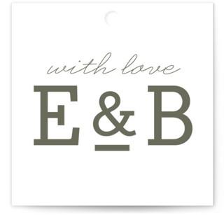 Established Wedding Favor Tags