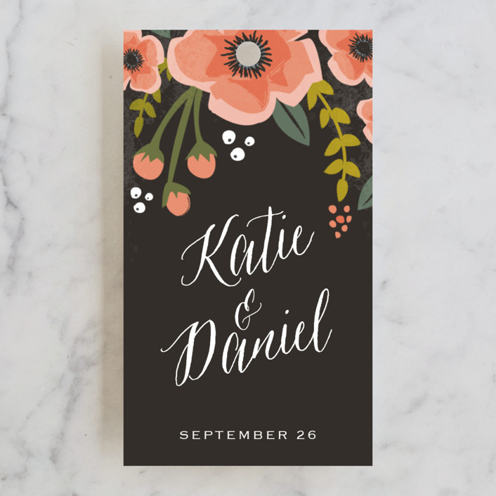 """Garden Blooms"" - Floral & Botanical, Rustic Wedding Favor Tags in Peach by Karidy Walker."