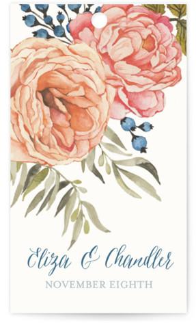 Garden Rose Wedding Favor Tags