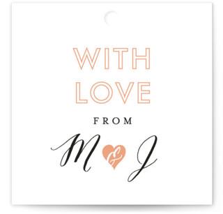 Heartbeat Wedding Favor Tags