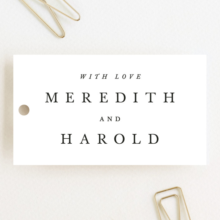 """""""Johannis"""" - Simple, Bold typographic Wedding Favor Tags in Ink by Jack Knoebber."""