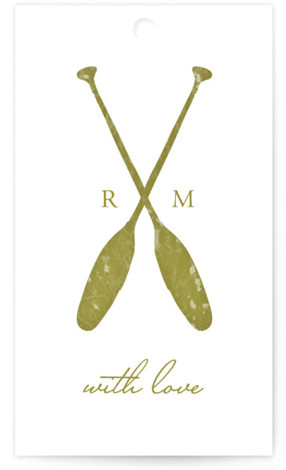 This is a portrait beach, rustic, simple, green Wedding Favor Tags by SimpleTe Design called Lakeside Oars with Standard printing on Signature in Tag Flat Card format. Add the perfect finishing touch to all of your wedding gifts with these ...