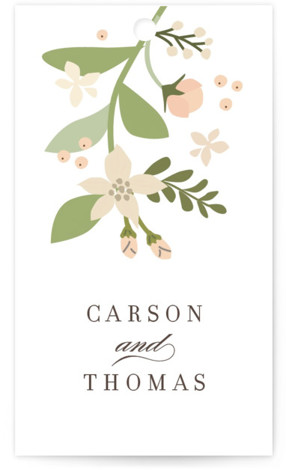 This is a portrait classical, elegant, floral, pink Wedding Favor Tags by Jennifer Wick called Longwood Estates with Standard printing on Signature in Tag Flat Card format. Add the perfect finishing touch to all of your wedding gifts with these ...