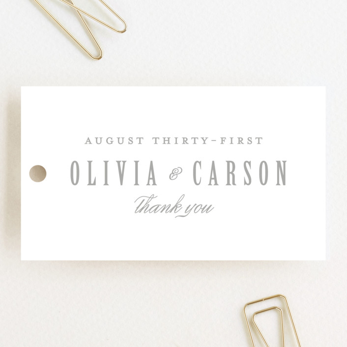 """Mist"" - Formal, Classical Wedding Favor Tags in Fog by Lori Wemple."