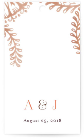 This is a portrait ethnic/cultural, modern, brown Wedding Favor Tags by Laura Condouris called Modern Mehndi with Standard printing on Signature in Tag Flat Card format. Add the perfect finishing touch to all of your wedding gifts with these chic ...