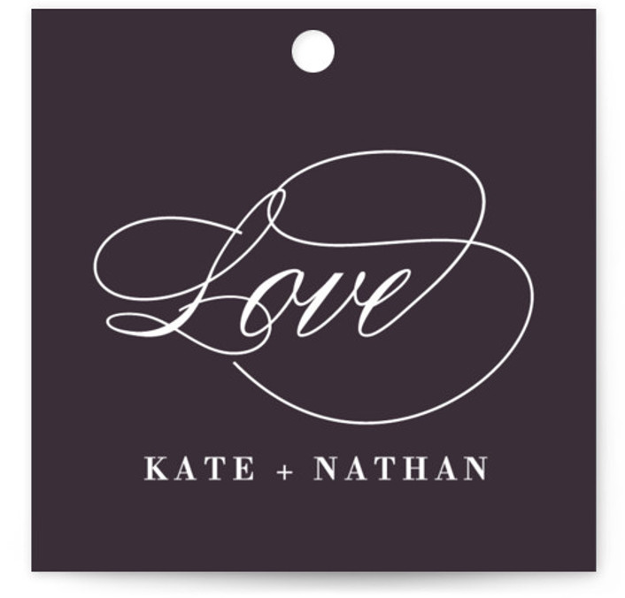 This is a square classical, elegant, formal, purple Wedding Favor Tags by Susan Brown called Promise with Standard printing on Signature in Tag Flat Card format. Add the perfect finishing touch to all of your wedding gifts with these chic ...