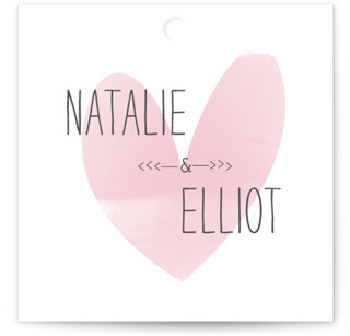Typewritten Heart Wedding Favor Tags