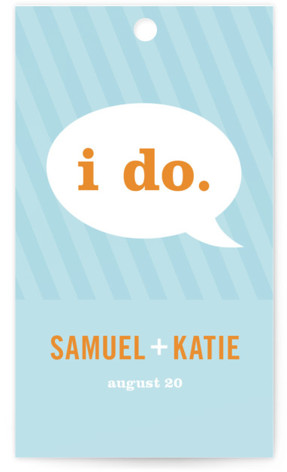 Smart Conversation Wedding Favor Tags