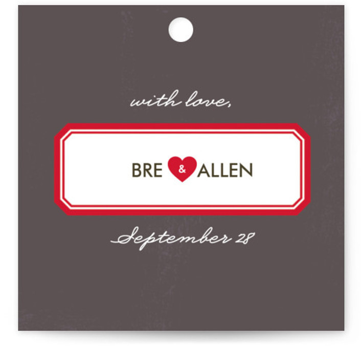 This is a square modern, simple, whimsical, grey Wedding Favor Tags by root beer float called Textbook Love Story with Standard printing on Signature in Tag Flat Card format. Add the perfect finishing touch to all of your wedding gifts ...