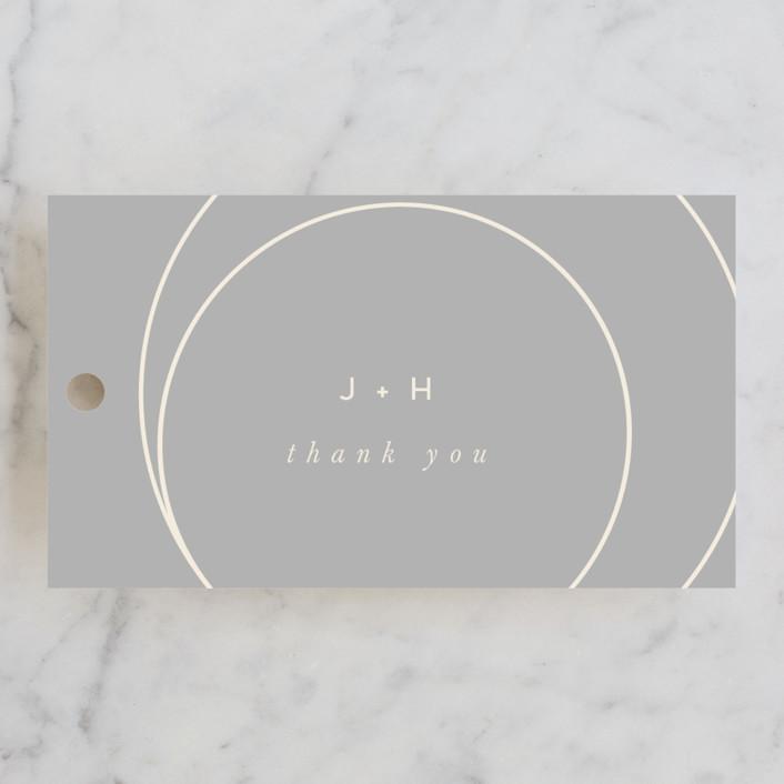 """lili"" - Modern Wedding Favor Tags in Ash by Lori Wemple."