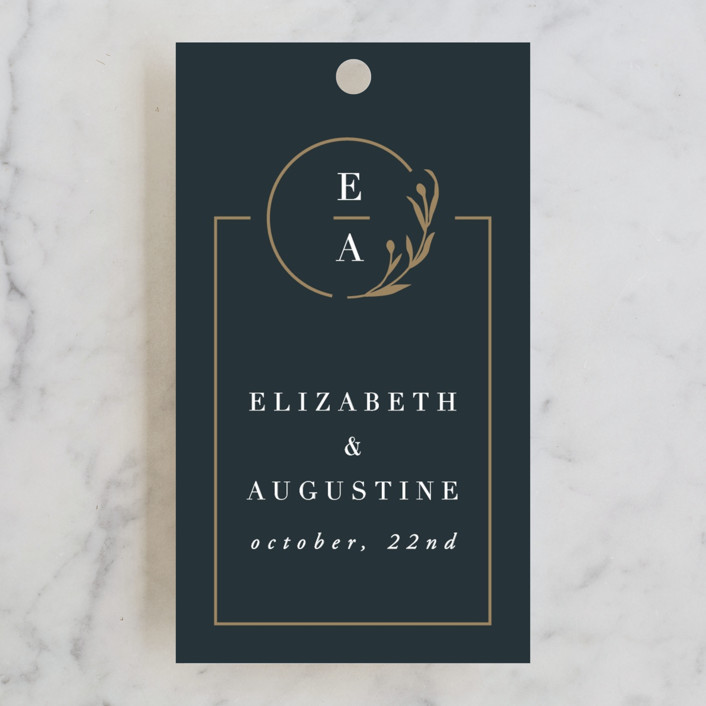 """For Eternity"" - Wedding Favor Tags in Midnight by Ana de Sousa."