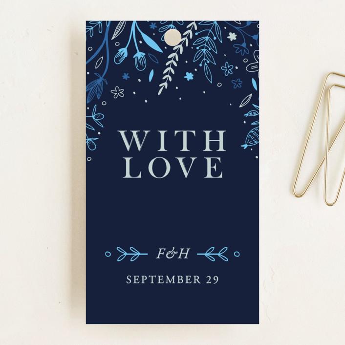 """Fairytale"" - Wedding Favor Tags in Navy by Anastasia Makarova."