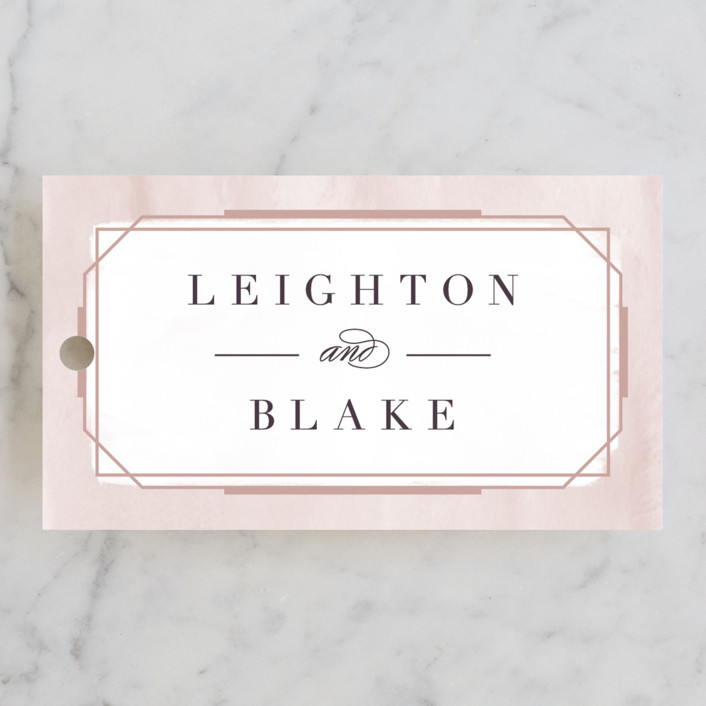"""Forever Elegant"" - Wedding Favor Tags in Mauve by Hooray Creative."
