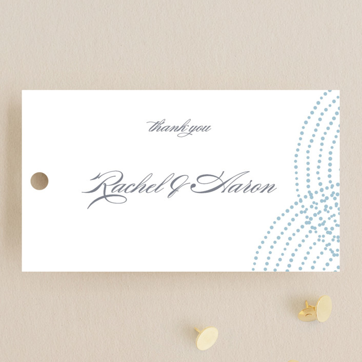 """""""Bespeckle"""" - Wedding Favor Tags in Sky by Benita Crandall."""