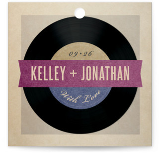 Wedding Vinyl Wedding Favor Tags