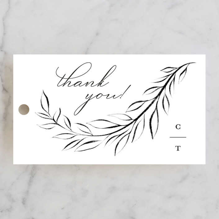 """Gilded Edge"" - Wedding Favor Tags in Tuxedo by Pink House Press."