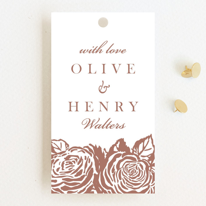 """""""House of York"""" - Wedding Favor Tags in Rosewood by Christie Kelly."""