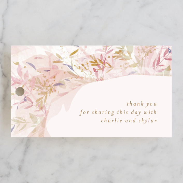 """Fantasy Floral Bride"" - Wedding Favor Tags in Blush by Phrosne Ras."