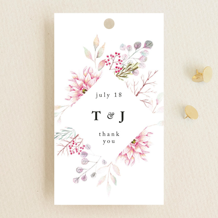 """Ascent"" - Wedding Favor Tags in Bloom by Poi Velasco."