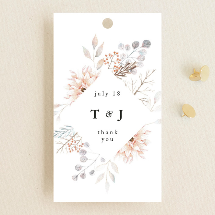 """""""Ascent"""" - Wedding Favor Tags in Bloom by Poi Velasco."""