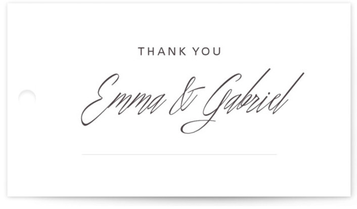 This is a landscape classical, elegant, formal, black & white Wedding Favor Tags by Design Lotus called Opulence with Standard printing on Signature in Tag Flat Card format. Add the perfect finishing touch to all of your wedding gifts with ...