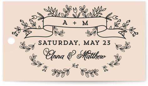 Wedding Bouquet Wedding Favor Tags