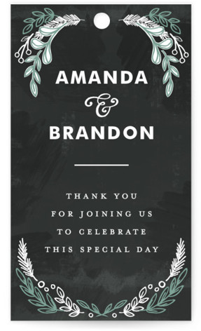 Chalkboard Wedding Favor Tags
