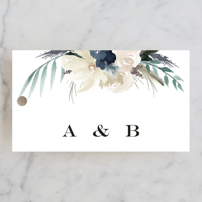"""rustic florals"" - Wedding Favor Tags in Garden by Kate Ahn."