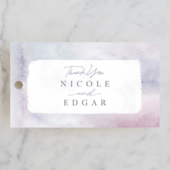 """Lavender Fields"" - Wedding Favor Tags in Lavender by Hooray Creative."