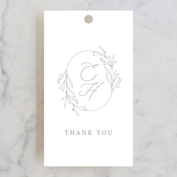 """""""Essential"""" - Wedding Favor Tags in Mist by Design Lotus."""