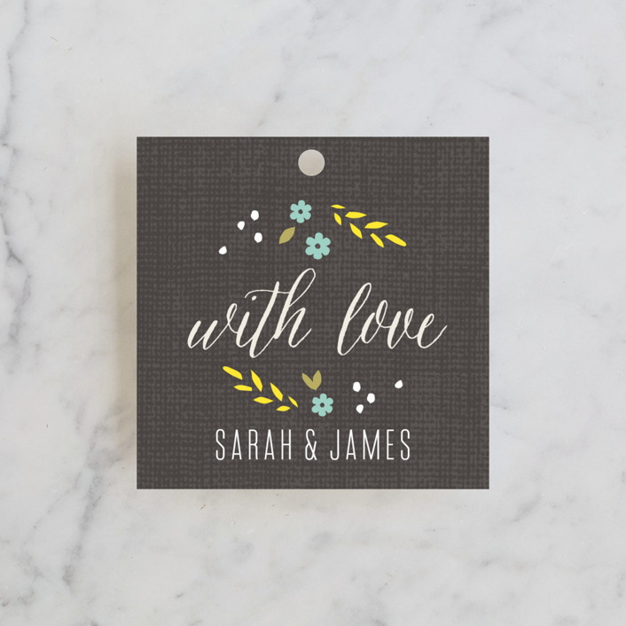 """""""Botanical Blooms"""" - Floral & Botanical, Rustic Wedding Favor Tags in Mint by Kristie Kern."""