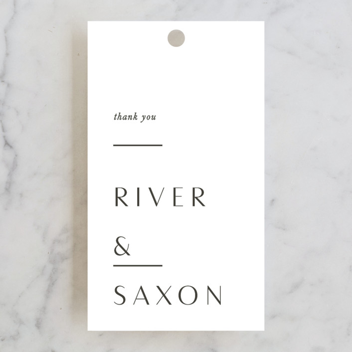 """""""Accent"""" - Wedding Favor Tags in Cotton by Blustery August."""