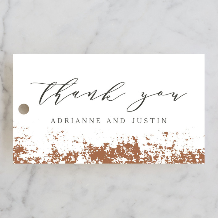 """""""Woodland Hills"""" - Wedding Favor Tags in Copper by Eric Clegg."""