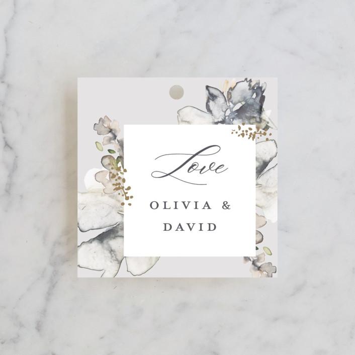 """Vitrage"" - Wedding Favor Tags in Granite by Petra Kern."