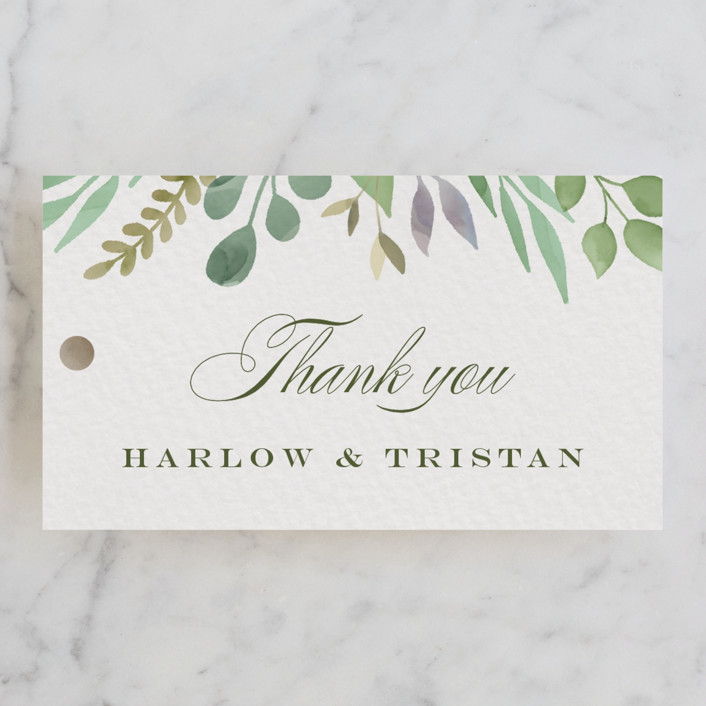 """Botanical Frame"" - Wedding Favor Tags in Garden by Jana Volfova."