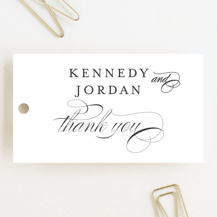 """""""Filigree"""" - Wedding Favor Tags in Sunshine by Carrie ONeal."""