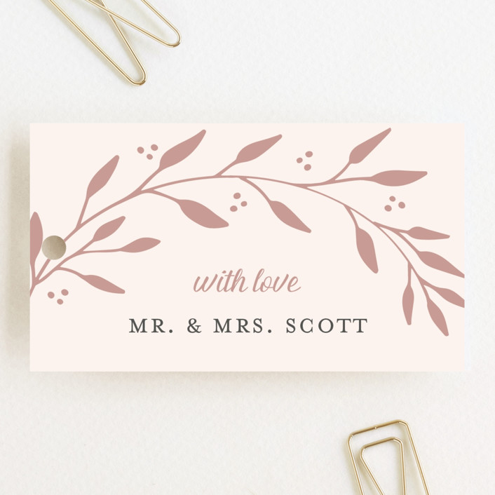 """Vineyard"" - Wedding Favor Tags in Blush by Tennie and Co.."