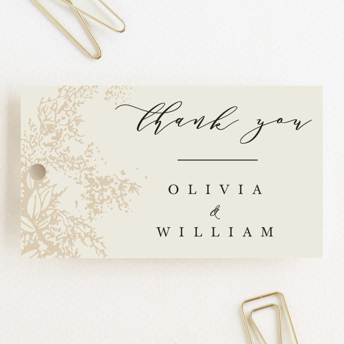 """""""Olivia"""" - Wedding Favor Tags in Taupe by Hannah Williams."""