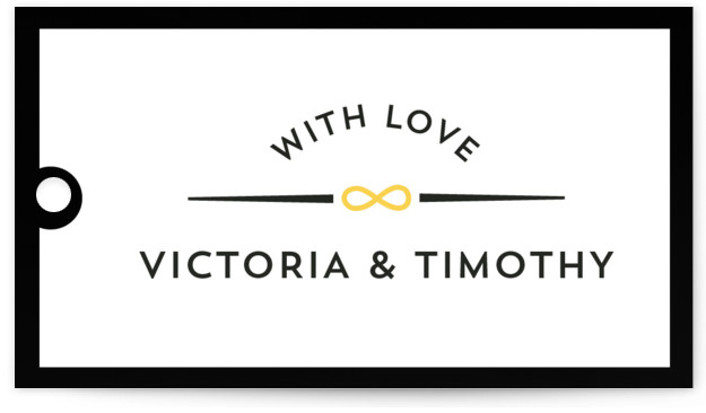 This is a landscape modern, simple, yellow Wedding Favor Tags by katrina gem called We are Infinite with Standard printing on Signature in Tag Flat Card format. Add the perfect finishing touch to all of your wedding gifts with these ...