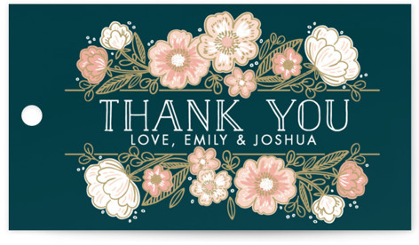 Country Florals Wedding Favor Tags