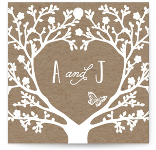 Kraft Woodland Tree Wedding Favor Tags