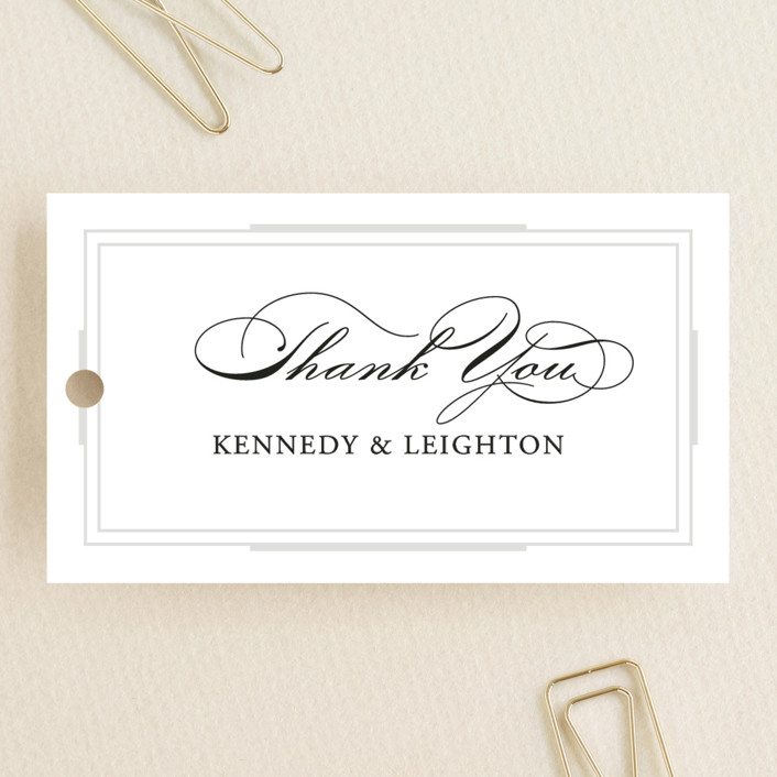 """""""Opulent Border"""" - Wedding Favor Tags in Stone by Hooray Creative."""