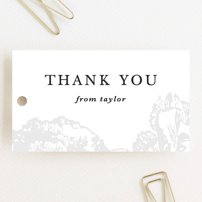 """""""Gilded Bloom"""" - Wedding Favor Tags in Snow by Christie Kelly."""